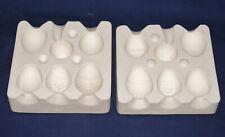 Vtg Ceramic Pottery Slip Casting Mold - 1971 Duncan - 6 Decorative Easter Eggs
