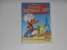 2007 Walt Disneys DONALD IN MATHMAGIC LAND Exclusive Classic Movie DVD VAULT OOP