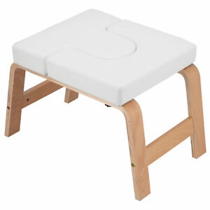 Solid Wooden Yoga Headstand Bench Balance Training Chair Fitness Stool Portable