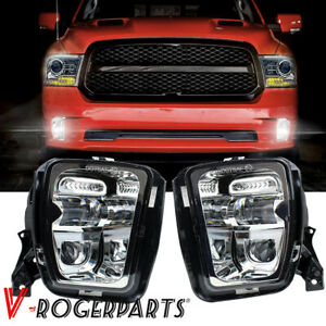2PCS Bumper LED Fog Light Fit For Dodge Ram 1500 2013 2014 2015 2016 2017 2018