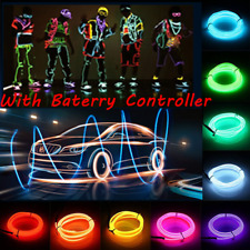 5M Battery Operated Controller Luminescent Neon LED Glow EL Wire Party Rope
