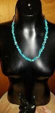 Beautiful Large Stone Turquoise And Heshi Shell Necklace