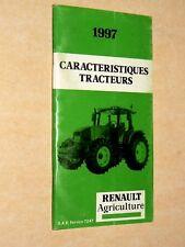Prospectus Tracteur RENAULT Carac 97  prospekt brohcure traktor tractor trattore