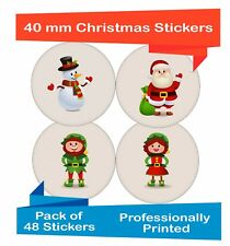 48-Pack 40 mm Self adhesive labels Mixed Christmas decor stickers,  ch09