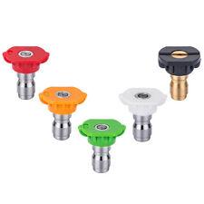 Be 5 Piece Pressure Washer Spray Nozzle Set 4.0 Orifice Size w/Soap Nozzle