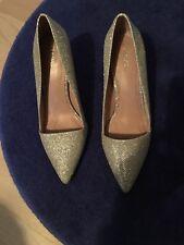 Ladies Next Silver Court Shoes Size 6