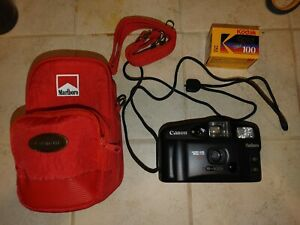 Vintage Marlboro Canon Camera With Case Sure Shot Owl AF-7 35mm
