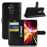 Funda para el Huawei Mate 20 Lite Libro Cover Wallet Case-s bolsa Negro