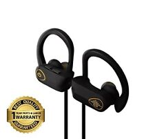 Electrics Solution Bluetooth Wireless Headphones w/Mic, Best Earbuds, Noise Canc