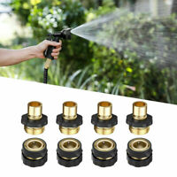 3/4' Garden Hose Quick Connect Fit Brass Female Male Connector Set US (4 Pack)