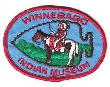 Winnebago Indian Museum 3 1/2 Inch Wide Unused Patch Wisconsin Dells WI Horse