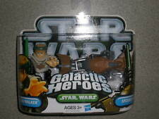 Star Wars Galactic Heroes Luke Skywalker & Speede Bike ~blue letters package