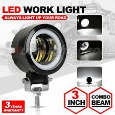 """3"""" INCH Round LED WORK LIGHT BAR Spot Lamp Off Road Driving Fog Light White DRL"""