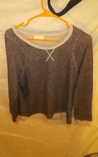 Vintage 1990's Bobbie Brooks Ladies Sweatshirt Top Charcoal Gray sz S
