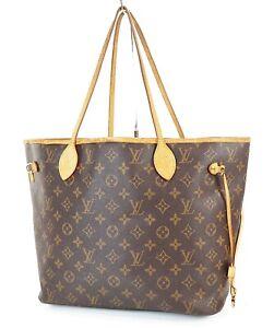 Authentic LOUIS VUITTON Neverfull MM Monogram Tote Bag Purse #37974