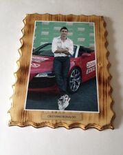 """Handmade Cristiano Ronaldo Pine Plaque 12""""L X 9""""W X 3/4""""H"""