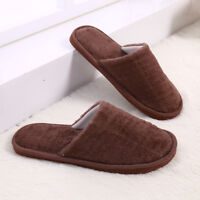 Men's Winter Warm Cotton Slippers Indoor Shoes Flat Home Slipper Large Size