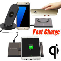 For Samsung Galaxy S7/S7 Edge Qi Fast Wireless Charger Rapid Charging Stand Mat