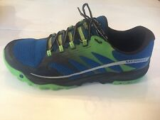MENS MERRELL ALL OUT CHARGE BLUE DUSK TRAIL RUNNING SHOE SZ 15