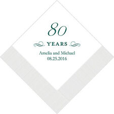 100 Personalized 80th Birthday Cocktail Napkins