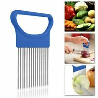 Tomato Onion Vegetables Slicer Cutting Aid Holder Guide Cutter Safe Shrendders