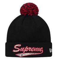 Supreme FW17 New Era® Snake Script Beanie BOX LOGO HAT CLASSIC CAMP CAP NAS TEE
