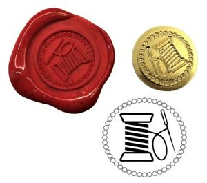 Cotton Reel Thread & Needle Wax Stamp Seal Kit or Buy Coin Only. XWS039B/XWSC363