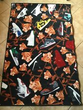 Rare Limited Ed. Spilled Sneaker Rug, Rose Gold Pattern, 4' x 6', sneakerhead