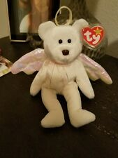 TY HALO The ANGEL BEAR Beanie Baby Brown Nose Christmas Gift Rare!