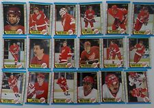 1989-90 O-Pee-Chee OPC Detroit Red Wings Team Set of 18 Hockey Cards