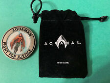 New! Loot Crate Aquaman & Black Manta Coin with Velvet Bag