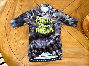 Endo Customs Team Dream SMALL Jersey Tie Dye Black Short Sleeve Cycling Mens