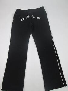 BEBE GIRLS BLACK WARM SWEAT LOUNGE PANTS VINTAGE SZ S EUC