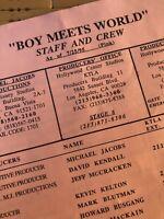 """Boy Meets World"" Production Used TV Memorabilia"