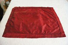 Dark Red Boutique Silk Standard Pillow Shams-2