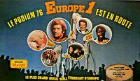 PUBLICITÉ DE PRESSE 1976 LE PODUIM 76 EUROPE 1 EDDY MITCHELL BORELLY DAREL KAY
