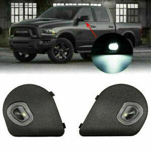 Left&Right LED Side Mirror Puddle Light For Dodge Ram 2500 1500 3500 4500 5500