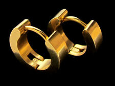 Ohrclip Creolen Edelstahl Farbe Gold Ohrringe Klappcreolen Ohrstecker Trend