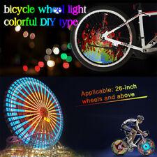 2X RGB 128 LED Bicycle Spoke Programmable Bike Wheel Light Flash IPX6 DIY YQ8003