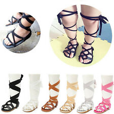 Kids Baby Girls Toddlers' Bandage Soft Crib Sole Leather Gladiator Sandals Shoes