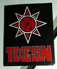 TOXIC SUN APPAREL CLOTHING MIAMI RED BLACK MUSIC STICKER
