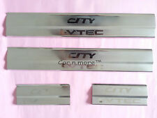 Car Door Stainless Steel Sill Plate Scuff Step Plate For Honda City IDTEC 2014