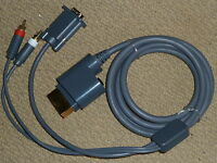 MICROSOFT XBOX 360 VGA MONITOR CABLE LEAD ADAPTER NEW! OPTICAL OUT STEREO AUDIO