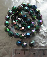 150 AB black round faceted plastic acrylic beads 6mm iridescent