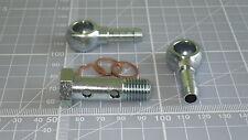 Perno Doble Banjo 12 Mm-M12 x1.5 8 mm dos banjos de acero cromado en pico de la cola,