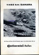 Continental Reifen-11 492 Km Sahara--Mercedes siegt Afrika Rally--Werbung-1961
