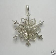 SNOWFLAKE DIAMOND PENDANT IN SILVER