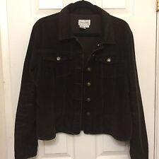 Brown Size L Corduroy Jacket Button Down Women's Soft Thin By Live A Little