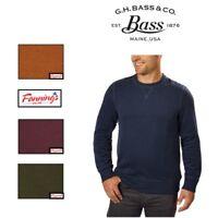 SALE! G.H. Bass & Co. Men's Crew Neck Fleece Sweatshirt VARIETY SZ/CLR - I42