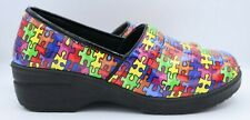 Easy Works Clogs by Easy Street Autism Awareness Puzzle Pieces Women's Size 11WW